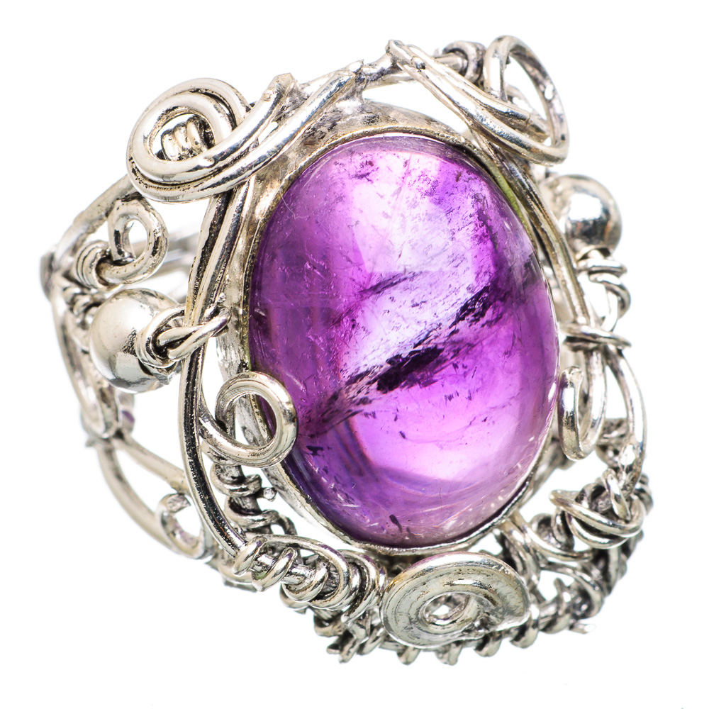 Ana Silver Co Amethyst 925 Sterling Silver Ring Size 6.25 - Handmade Jewelry RING838200