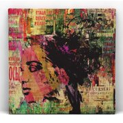 Red Noir Jungle Framed Graphic Art on Wrapped Canvas