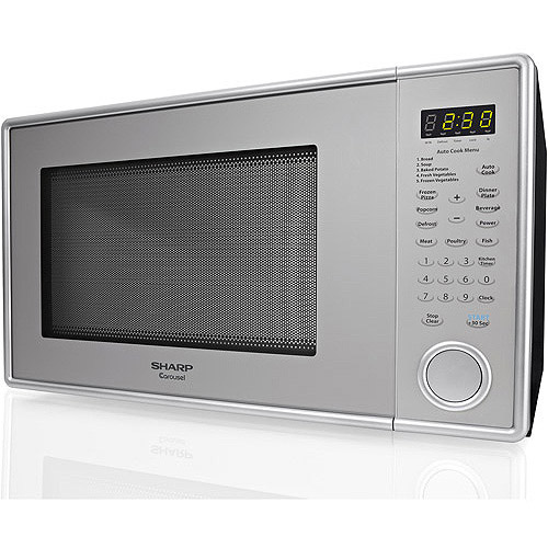 Sharp 1.3 cu ft Microwave Oven, Pearl Silver