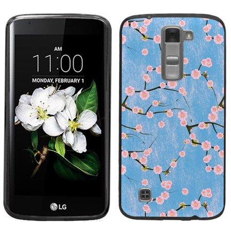 Blossom Treasure (One Tough Shield ® Slim-Fit Premium TPU Gel Phone Case (Black Bezel) for LG K7 / K8 / Treasure LTE / Escape 3 / Tribute 5  - Blossom Pink )