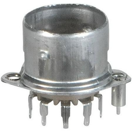 9-Pin Vacuum Tube Socket Belton Micalex PC Mount Shielded Base