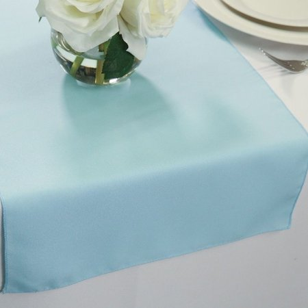 Polyester Table Runners 14 x 72 Baby Blue - Baby Blue Table Runner