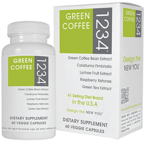 Creative Bioscience Green Coffee 1234 Veggie Capsules Dietary Supplement, 60 count