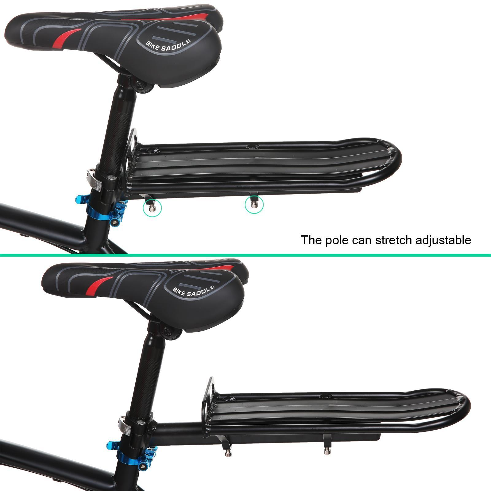 "Bike Bicycle Post 14.6 x 4.7"" Black Rear Carrier Rack Seat  For Mountain AMZSE"
