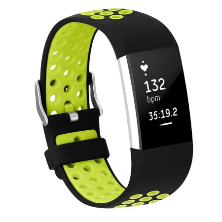 Adepoy Soft Silicone Replacement Sport Wrist Bands Strap for Fitbit Charge 2 (Green, Small) for $<!---->