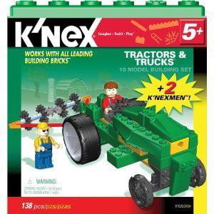 KNEX 10 Model Building Set 138 Pc Tractors Trucks Knex by K'NEX