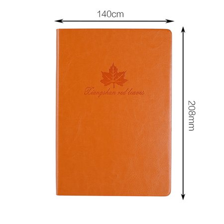 Korean Style Notebook A5 PU Leather Cover Notebook Notepad Office School Supplies Stationery Daily Memos Journal Agenda