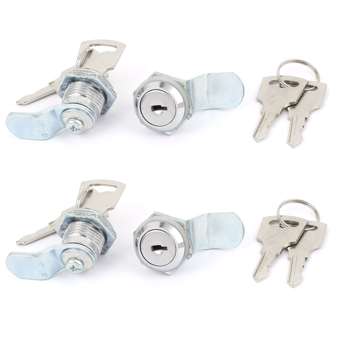 4Pcs Cabinet Cross Shaped Metal Core Cam Door Lock with Keys