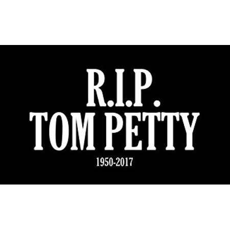 R.I.P. TOM PETTY 1950-2017 Sticker Decal (rock legend rip rest in peace) 3 x 5 inch (Peeping Tom Sticker)
