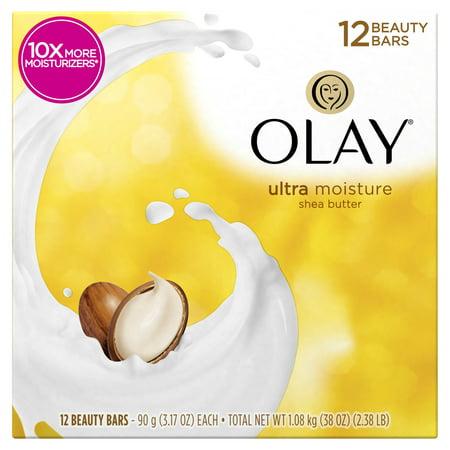 Olay Moisture Outlast Ultra Moisture Beauty Bar with Shea Butter 12 Bar, 3.17 oz