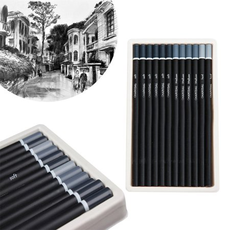 mont marte charcoal pencils 12 pieces graphite pencil sketching