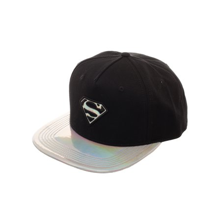 Superman Metallic Flat Bill Hat ()