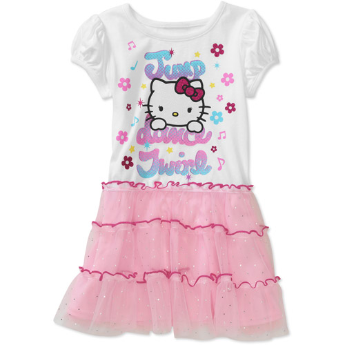 Hello Kitty Baby Girls' Dot Tulle Tee Shirt Dress