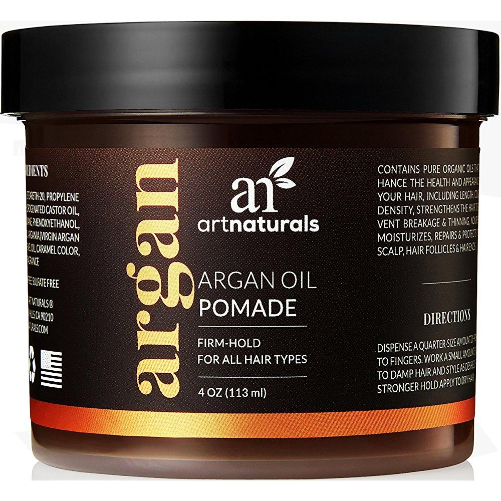 art naturals argan oil hair pomade 4.0 oz firm hold for all hair types with argan oil