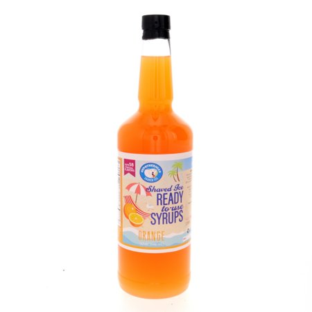 Orange Ready to Use Shaved Ice or Sno Cone Syrup Quart Rival Snow Cone Syrup