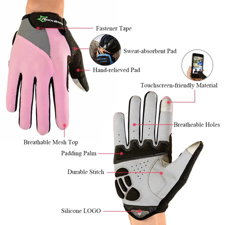 ROCKBROS Unisex Breathable Cycling Gloves Full Finger Gloves Thermal Gloves Touch Screen Gloves Motorcycling Skiing Hiking Outdoor Racing Riding - image 3 of 7