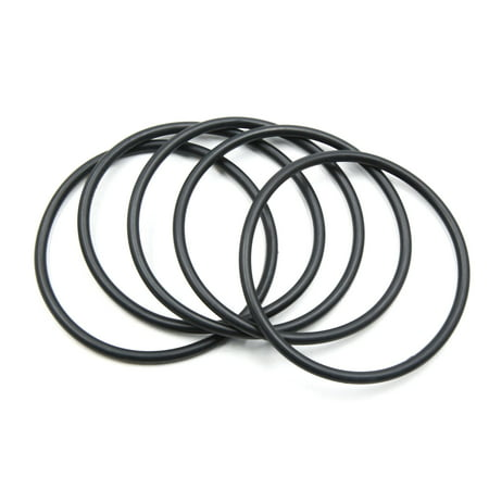 5pcs Black NBR O-Ring Seal Gasket Washer for Automotive Car 95mm x 5.3mm - image 2 of 2