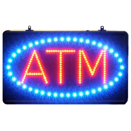 - 22 inch Blue & Red LED ATM Sign with oval