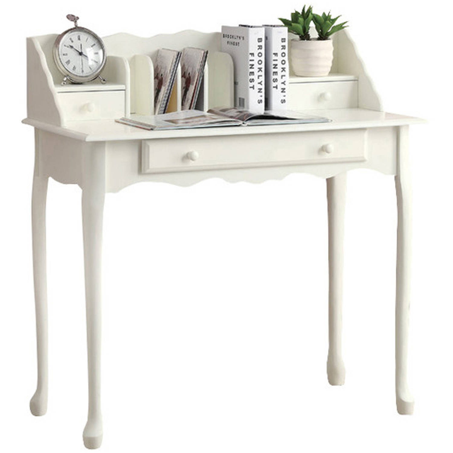 "Monarch Desk 36""L / Antique White Traditional"