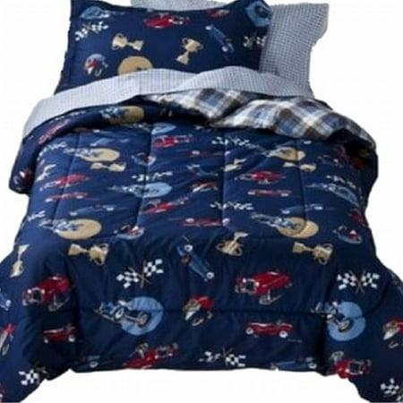 Kids Full Bed In A Bag Vintage Cars Boys Comforter Set