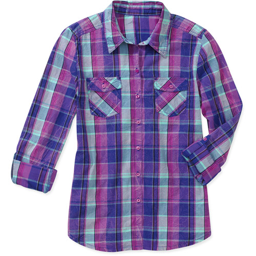 L.E.I. Juniors Plaid Woven Shirt