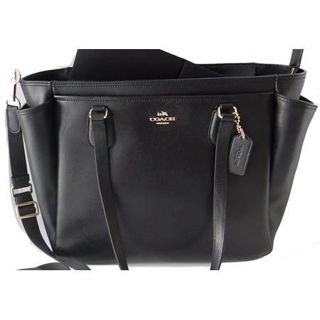 Coach Crossgrain Baby Bag In Black