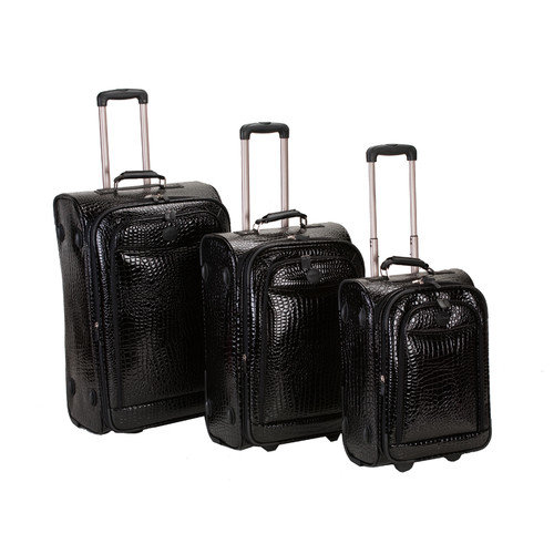 Rockland Crocodile Style 3 Piece Luggage Set