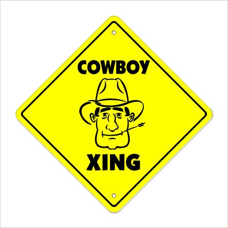 Cowboy Crossing Sign Zone Xing | Indoor/Outdoor | 14