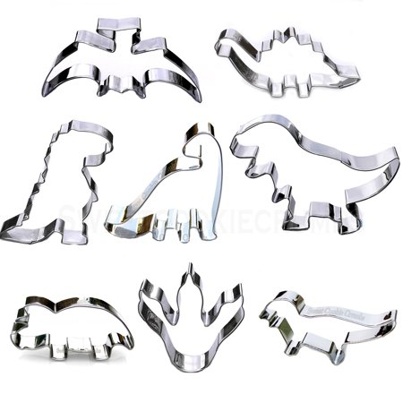 Dinosaur Cookie Cutter Set, 8 Piece, Stainless Steel Cookie Cutters 6 Piece