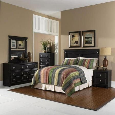 Victorian Bedroom Suite - Cambridge Southampton 5 Piece Bedroom Suite: Twin Bed Headboard, Dresser, Mirror, Chest, Nightstand