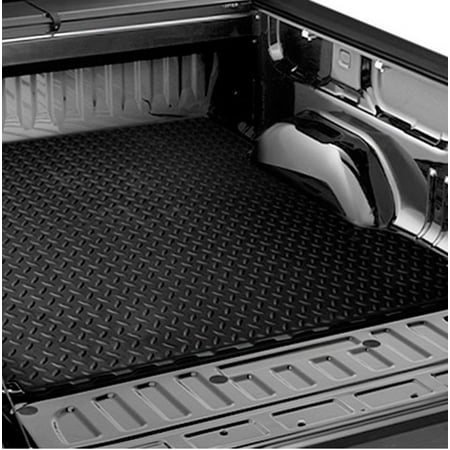 Truck Standard Cab Carpet - RL Concepts Black Rubber Diamond Truck Bed Trunk Floor Mat Carpet 02-17 Dodge Ram 6.4/6.5 Cab