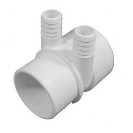 Magic Plastics 0362 20 2 in Slip x 2 in Spg Manifold Pvc Pipe 2 Port 0
