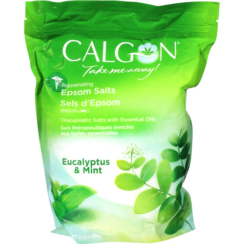 Calgon Rejuvenating Epsom Salts, Eucalyptus & Mint, 3 lbs.
