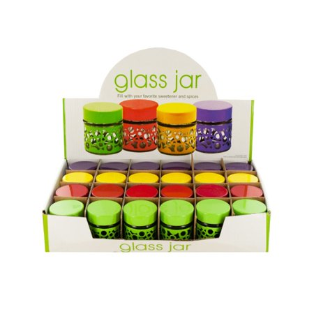 Circle Design Glass Jar Countertop Display (Lot of 24) - Walmart.com
