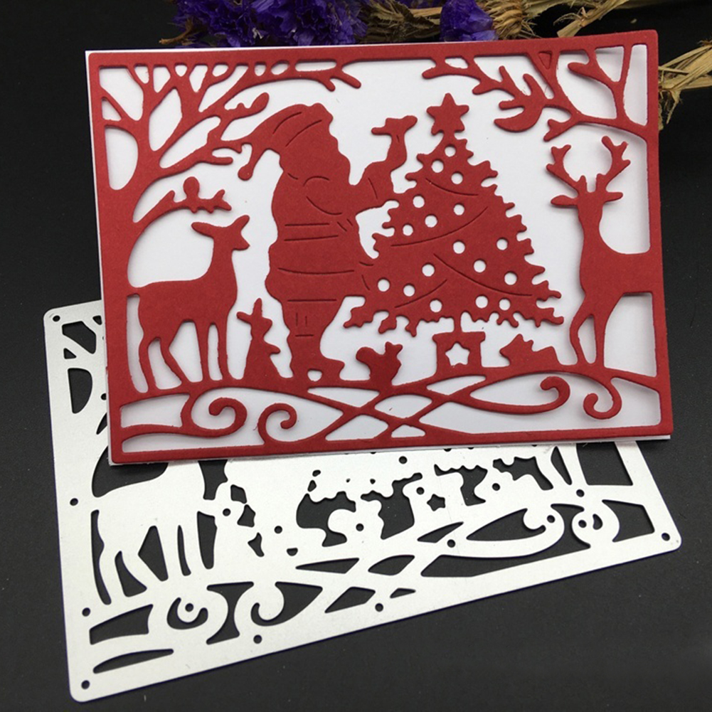 Girl12Queen Christmas Santa Claus Embossing Carbon Steel Cutting Die DIY Paper Craft Decor