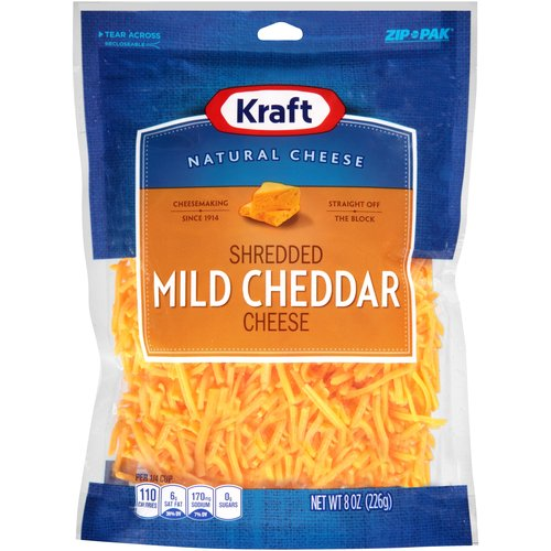 Kraft Shredded Mild Cheddar Cheese, 8 oz