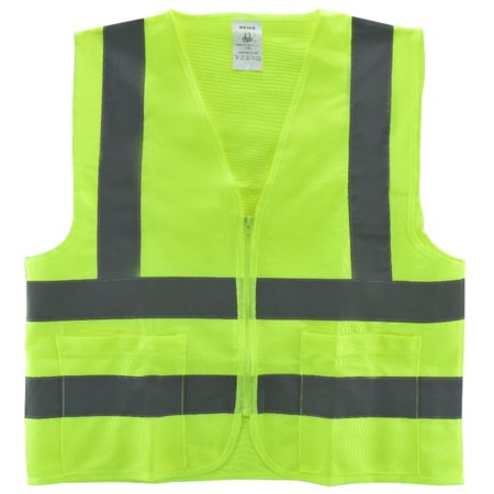 Medium- Yellow Safety Vest With 2 Pockets ASIN/ISEA