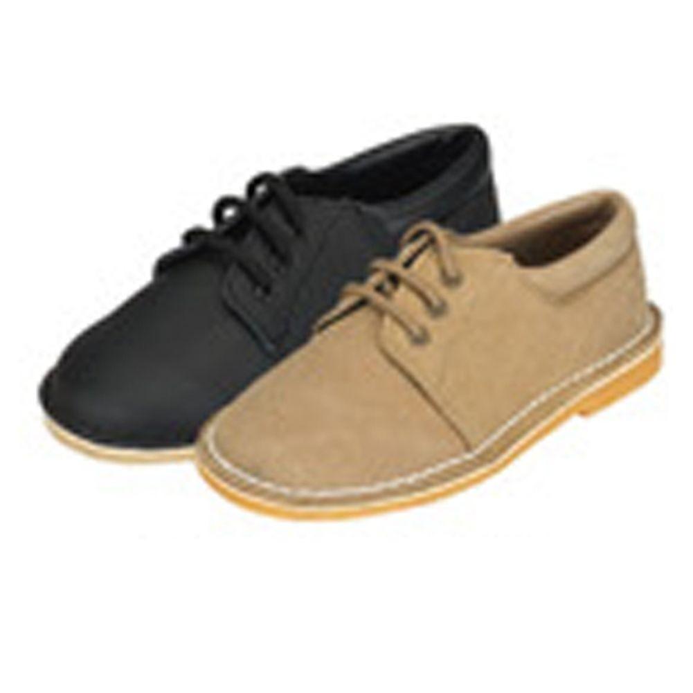 Khaki Faux Suede Boys Dress Shoes Size