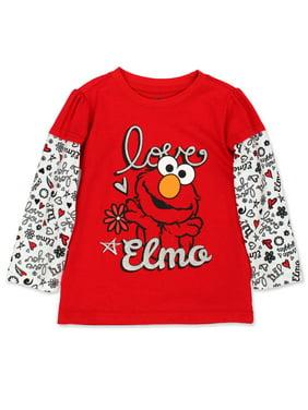 Sesame Street Baby Toddler Girls Long Sleeve T-Shirt 7SE5317