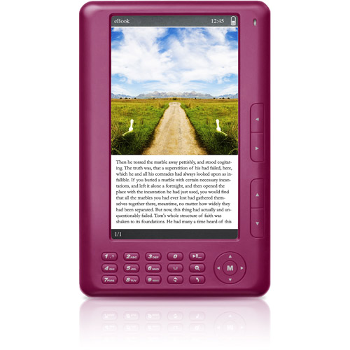 "Ematic EB101P 7"" E-Book Reader, Pink"