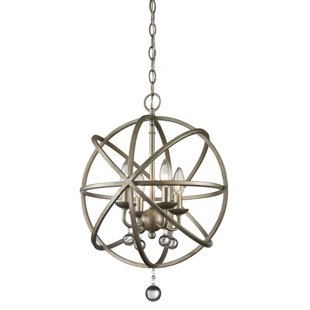 New zlite Product  Acadia Collection 4 Light Pendant in Antique Silver Finish Sold by (Acadia Collection)