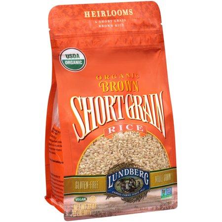 Lundberg Organic Brown Short Grain Rice, 32.0 OZ - Walmart.com
