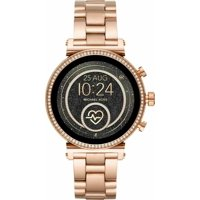 Deals on Michael Kors MKT5063 Slim Sofie Rose Gold Smart Watch