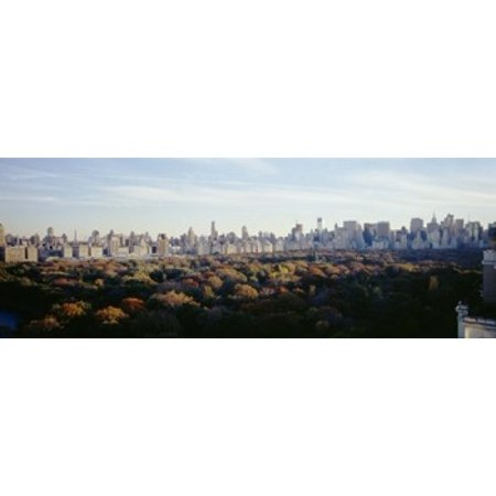 View Over Central Park Manhattan NYC New York City New York State USA Poster Print - Central Bar Nyc Halloween