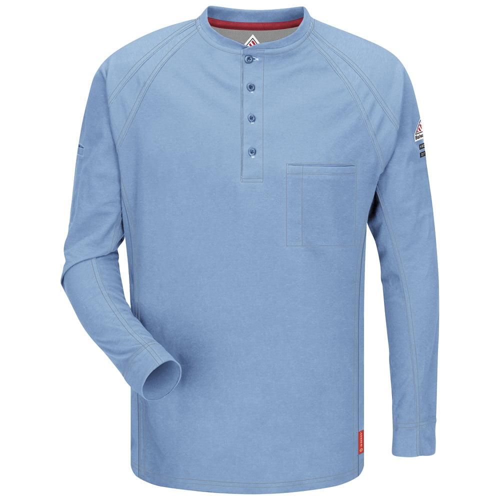 Bulwark FR Blue IQ Long Sleeve Henley
