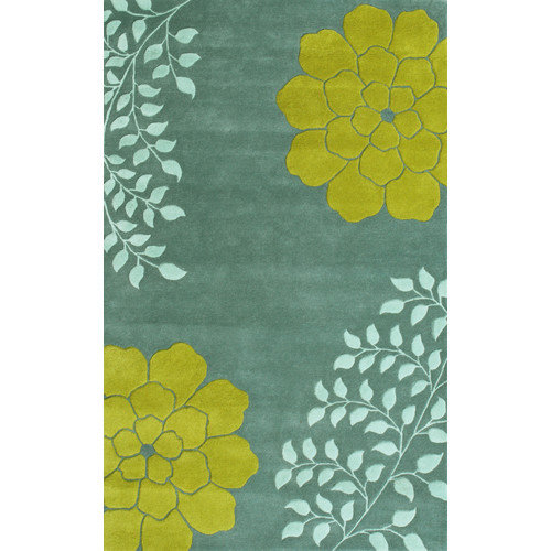 Noble House Gardenia Aqua Area Rug