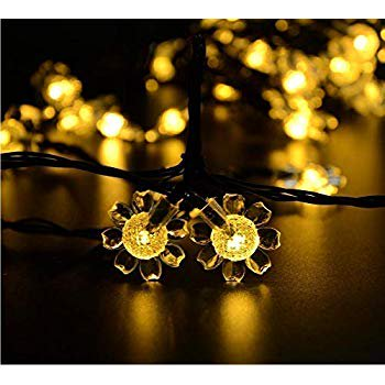 Image of Solar Sunflower Lights, Waterproof 21ft 50LED Sunflowers Solar Fairy String Lights for Indoor/Outdoor Christmas Wedding Party Garden Holiday Landscape Lighting Decoration (1-Warm White)