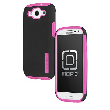 Incipio Silicrylic DualPro Case for Samsung Galaxy S3 - Black/Neon Pink