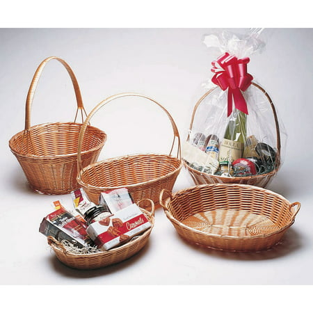 Baskets With Handles (Oval Wicker Basket With Handle - 13 1/4 L x 9
