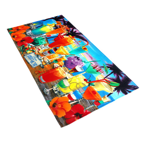 Kaufman Sales Royce Always Happy Hour Printed Beach Towel